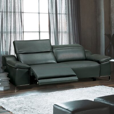 Dionne Electric Motion Genuine Leather Loveseat