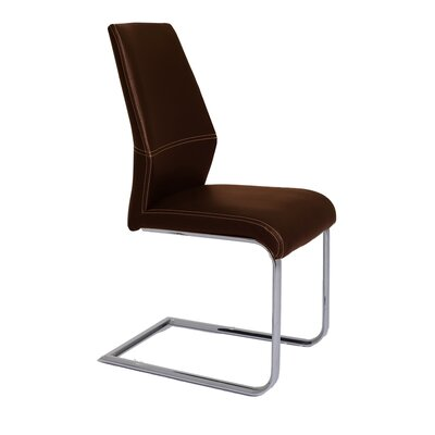 Lotto Side Chair (Set of 2) Upholstery: Brown