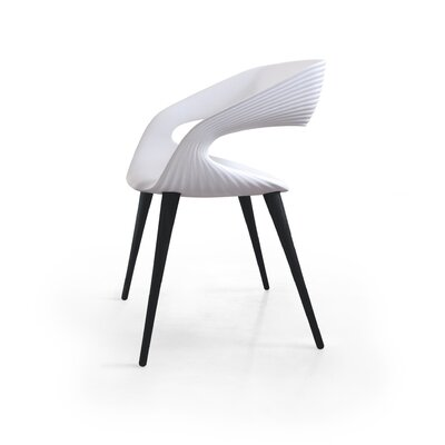 Nikhil Upholstered Dining Chair Upholstery Color: White, Leg Color: Anthracite