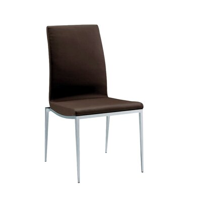 Monique Side Chair (Set of 2) Upholstery: Brown