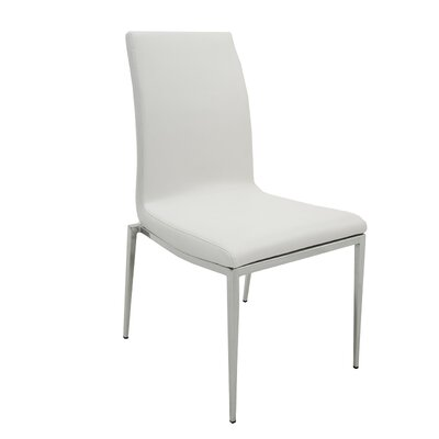 Monique Side Chair (Set of 2) Upholstery: White