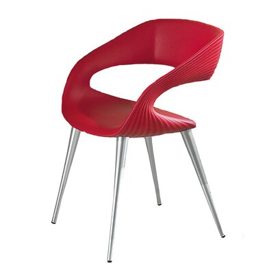 Nikhil Upholstered Dining Chair Upholstery Color: Red, Leg Color: Aluminum