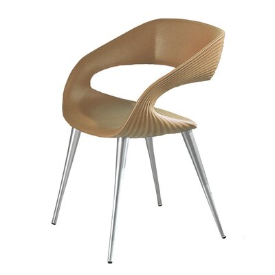 Nikhil Upholstered Dining Chair Upholstery Color: Tan, Leg Color: Aluminum