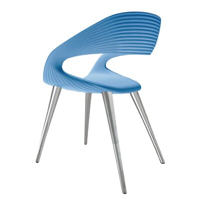 Nikhil Upholstered Dining Chair Upholstery Color: Blue, Leg Color: Aluminum
