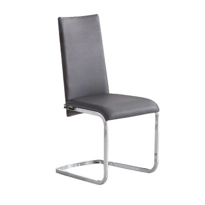 Jolie Side Chair (Set of 2) Upholstery: Grey