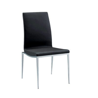 Monique Side Chair (Set of 2) Upholstery: Black