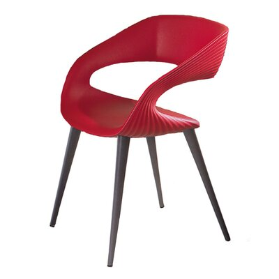 Nikhil Upholstered Dining Chair Upholstery Color: Red, Leg Color: Anthracite