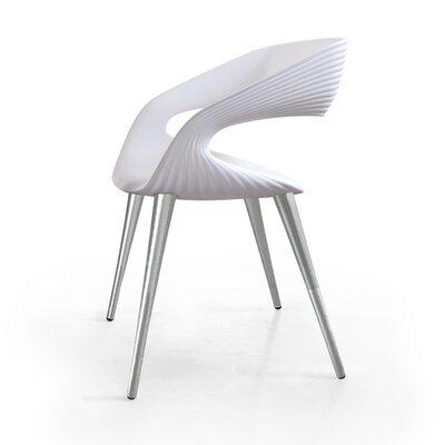 Nikhil Upholstered Dining Chair Upholstery Color: White, Leg Color: Aluminum