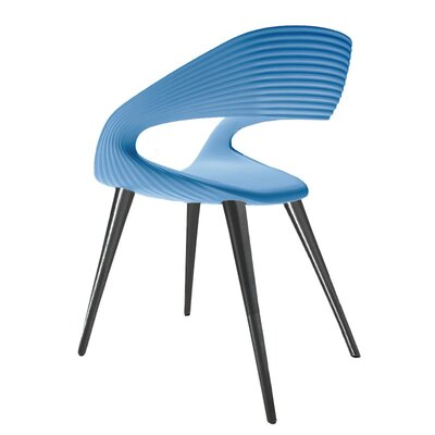 Nikhil Upholstered Dining Chair Upholstery Color: Blue, Leg Color: Anthracite