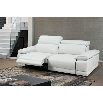 Greta Leather Loveseat Upholstery: Leather White