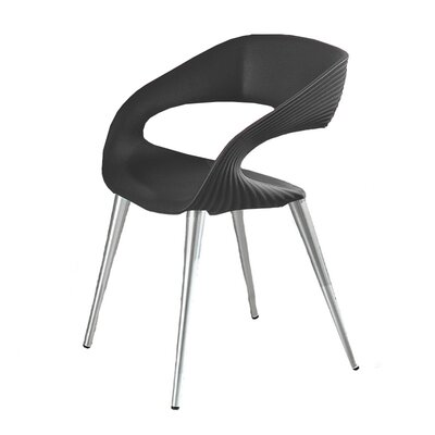Nikhil Upholstered Dining Chair Upholstery Color: Anthracite, Leg Color: Aluminum