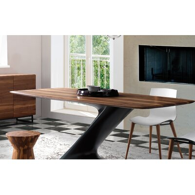 Rachita Dining Table Base Color: Anthracite, Size: 44 H x 95 W x 30 D