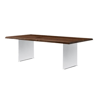 Grasmere Dining Table Base Color: White, Size: 39 H x 95 W x 30 D