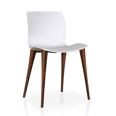 Akanksha Upholstered Dining Chair (Set of 2) Leg Color: Walnut