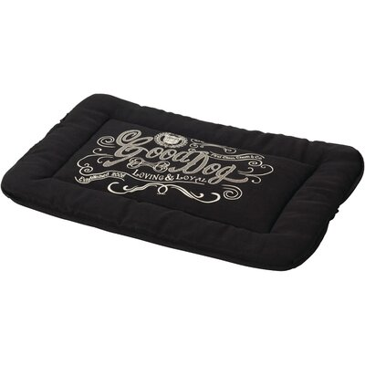 Good Dog Linen Crate Mat Size: Large (9.6 W x 38 D), Color: Black