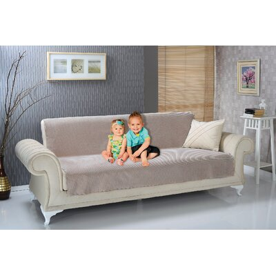Anti Slip Armless Diamond Shield Futon Couch Pet Polyester Sofa Slipcover Upholstery: Tan
