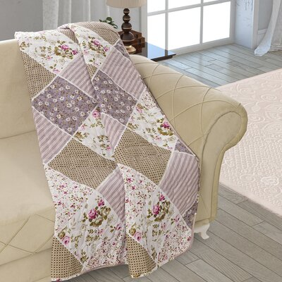 Beauville Patchwork Double Sided Multi Use Reversible Summer Quilt Blanket