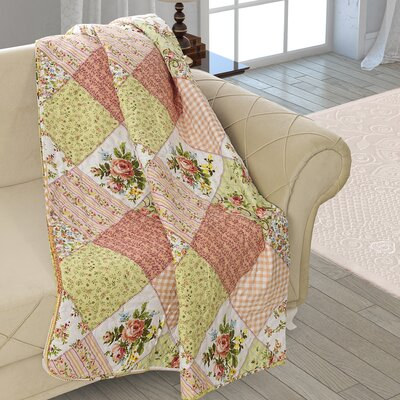 Beauville Patchwork Double Sided Multi Use Reversible Summer Carnival Quilt Blanket