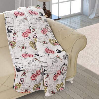 Beauville Double Sided Multi Use Reversible Summer Romance Quilt Blanket