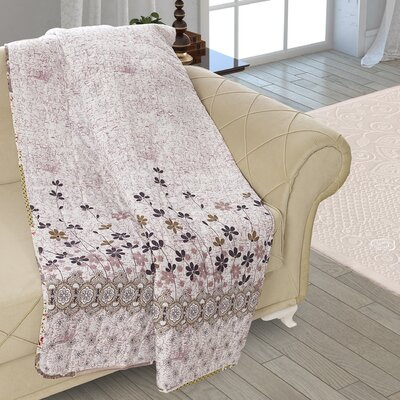 Beauville Double Sided Multi Use Reversible Summer Autumn Flowers Quilt Blanket