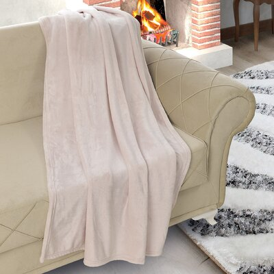 Matthieu Flannel Ultrasoft Plush Throw Color: Beige