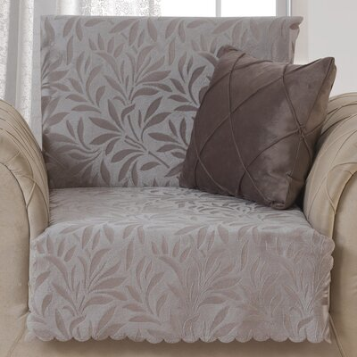 Pet Protector Box Cushion Armchair Slipcover Upholstery: Light Taupe