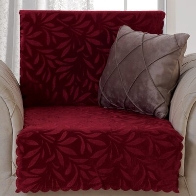 Pet Protector Box Cushion Armchair Slipcover Upholstery: Burgundy