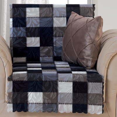 Pet Protector Checkered Box Cushion Armchair Slipcover