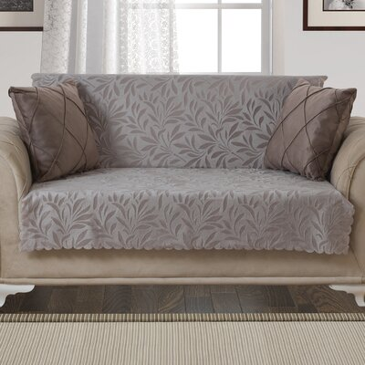 Box Cushion Loveseat Slipcover Upholstery: Light Taupe