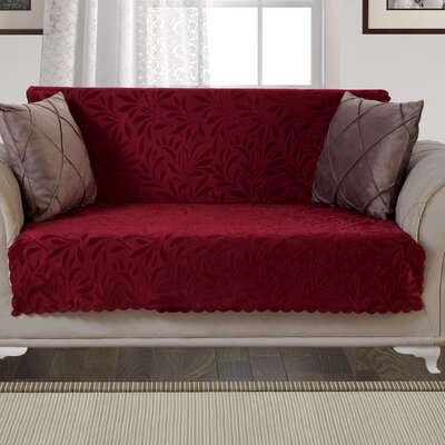 Pet Protector Pattern Loveseat Slipcover Upholstery: Burgundy