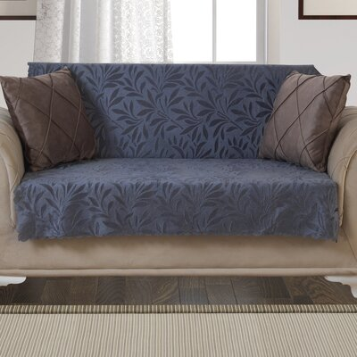 Box Cushion Loveseat Slipcover Upholstery: Smoke