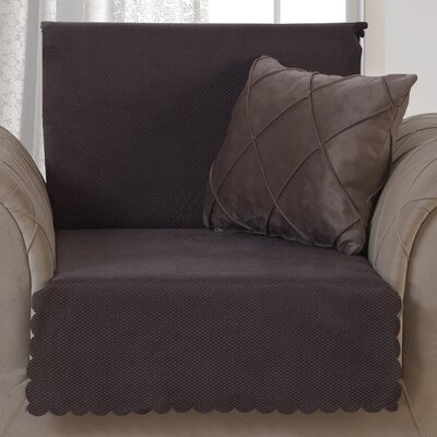 Pet Protector T-Cushion Armchair Slipcover Upholstery: Chocolate Brown