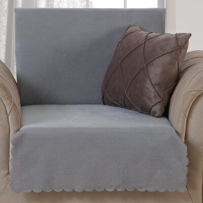 Pet Protector T-Cushion Armchair Slipcover Upholstery: Gray
