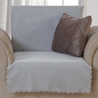 Pet Protector T-Cushion Armchair Slipcover Upholstery: Light Gray