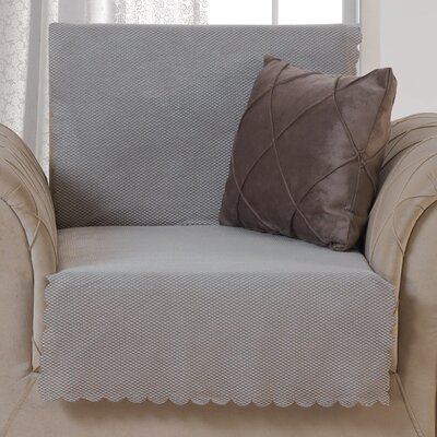 Pet Protector T-Cushion Armchair Slipcover Upholstery: Light Taupe