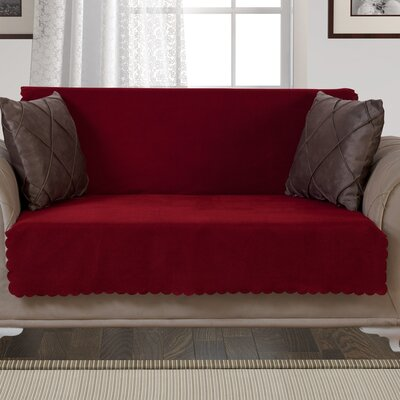 Pet Protector T-Cushion Loveseat Slipcover Upholstery: Burgundy