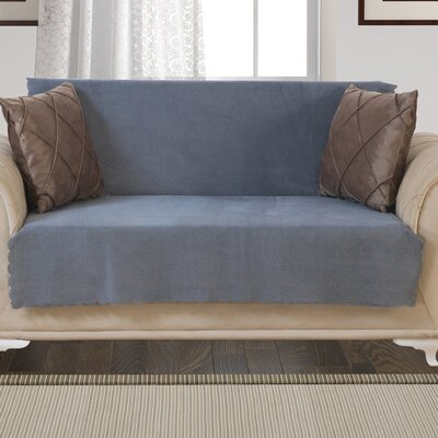 Pet Protector T-Cushion Loveseat Slipcover Upholstery: Smoke