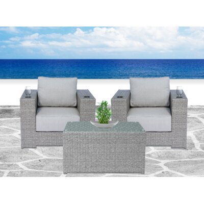 Percy 3 Piece Conversation Set with Cushions