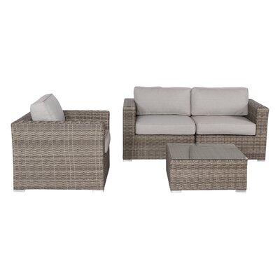 Vardin 4 Piece Sofa Set with Cushion