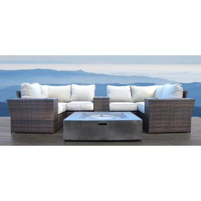 Simmerman Fire Pit 10 Piece Conversation Set with Cushions