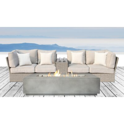 Winsford Fire Pit 6 Piece Sofa Set with Cushions