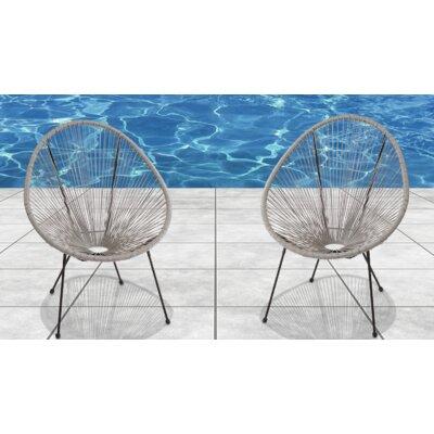 Moline Resort Grade Papasan Chair Color: Gray