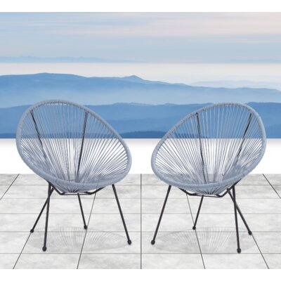 Moline Resort Grade Papasan Chair Color: Blue/Gray