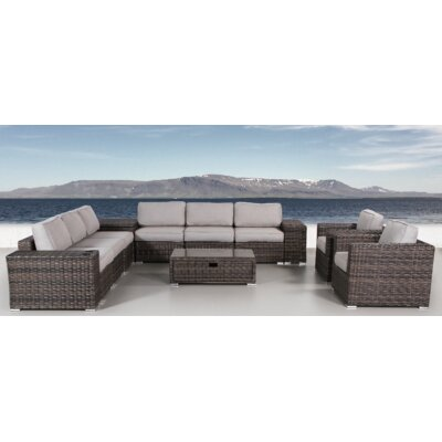Disalvo 12 Piece  Sectional Set with Cushions LTTN4442 45242890