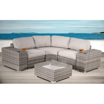 Rattan Sectional Set Cushions 2184