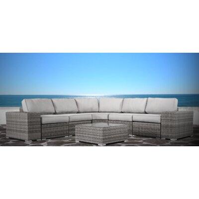 Vardin 8 Piece Rattan Sectional Set with Cushions 6B245106A46043E1A3DEDE4DAFB41789