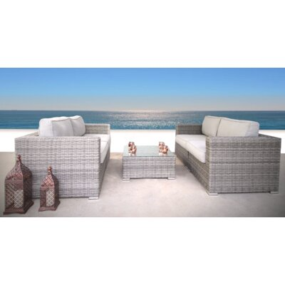 Cepeda 5 Piece Sofa Set with Cushions 52BD431EEFD241BA9EF211174DA06B45