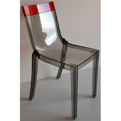 Wieczorek Solid Side Chair (Set of 2) Color: Red/Trans Smoke