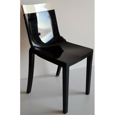 Wieczorek Solid Side Chair (Set of 2) Color: White/Black