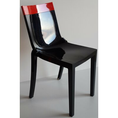 Wieczorek Solid Side Chair (Set of 2) Color: Red/Black